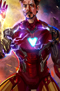 1242x2688 Tony Iron Man 2020 4k