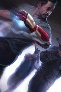 1080x2160 Tony Stark As Iron Man Artwork 5k