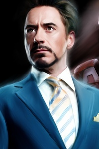 Tony Stark As Iron Man Portrait Artwork 5k