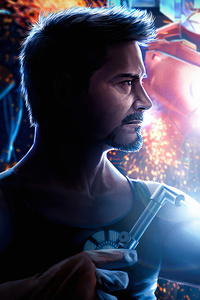 1440x2960 Tony Stark Building Suit