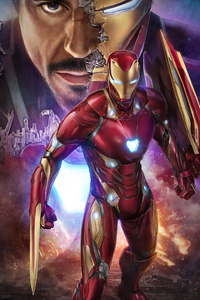 Tony Stark Iron Man 4k