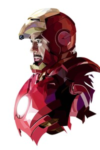1242x2688 Tony Stark Iron Man Art