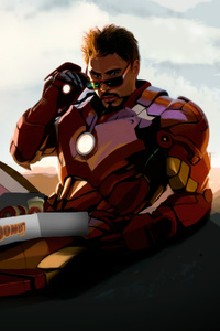 240x320 Tony Stark Loves Donuts