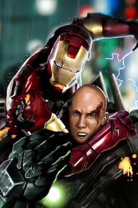 240x320 Tony Stark Vs Lex Luthor