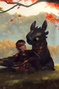 Toothless And Hiccup Fanart
