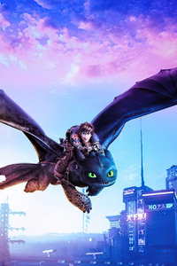 480x854 Toothless And Hiccup Flight 4k