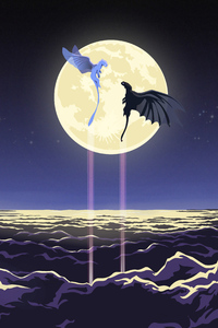 Toothless And Light Fury Artwork 4k