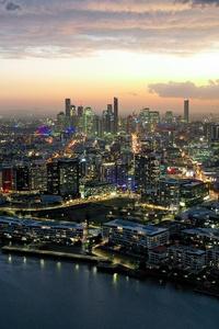 640x960 Town Building Landscape Aerial View 5k