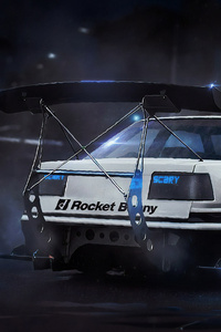 Toyota Ae86 Scary Digital Art 4k