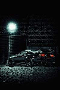 1242x2688 Toyota Supra Black 4k