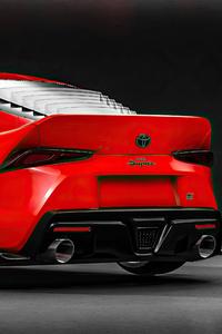 Toyota Supra Render Rear 4k
