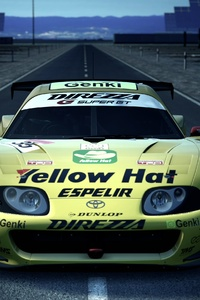 480x854 Toyota Supra Yellowhat Gran Turismo 6 4k