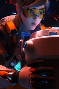 1242x2688 Tracer From Overwatch 2