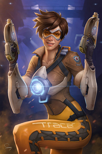 360x640 Tracer From Overwatch 4k