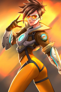Tracer From Overwatch 5k