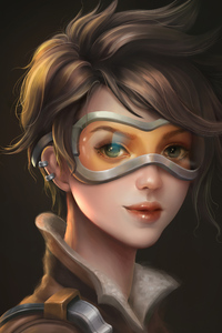640x1136 Tracer From Overwatch Artwork