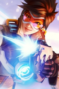 2160x3840 Tracer Overwatch Artworks