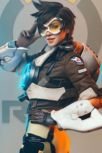 1280x2120 Tracer Overwatch Cosplay 2020