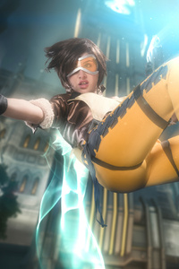 1125x2436 Tracer Overwatch Cosplay 4k
