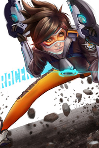 Tracer Overwatch Digital Art 4k