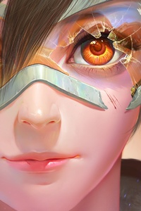 360x640 Tracer Overwatch Fan Art