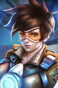 Tracer Overwatch Game Art