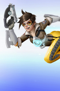 1125x2436 Tracer Overwatch New Artwork