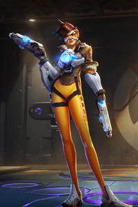 640x1136 Tracer Overwatch Video Game
