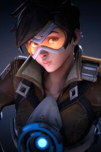 1280x2120 Tracer Ovewatch Art