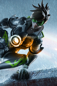 360x640 Tracer Ovewatch Artwork 4k