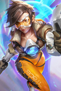 Tracer Ovewatch Artwork4k