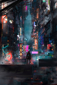 Traffic Jam Shortcut Cyberpunk 4k