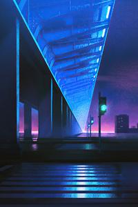 Traffic Lights Night City 4k
