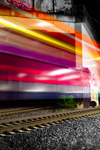 480x854 Train Long Exposure Lights Photography