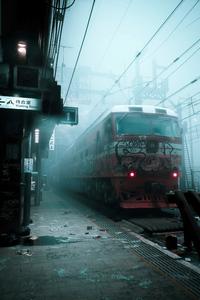 720x1280 Train Smog Grafitti