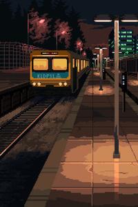 750x1334 Train Station 8 Bit