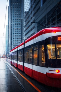 720x1280 Tram In Downtown Toronto