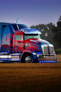 1242x2688 Transformers The Last Knight 5 Optimus Prime Truck 5k
