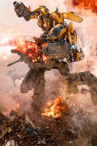 750x1334 Transformers The Last Knight Bumblebee Goes To War 8k