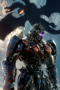 1242x2688 Transformers The Last Knight Optimus Prime New Poster