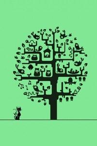 1125x2436 Tree Minimalism
