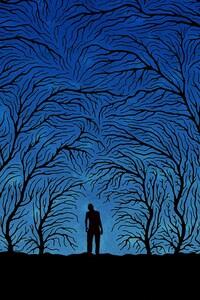 320x480 Trees Art