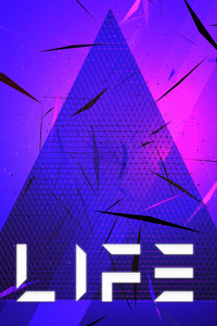 Triangle Abstract Life Typography 5k