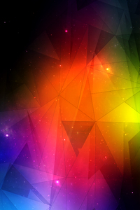 640x960 Triangle Abstract Mesh 4k