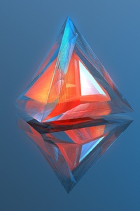 320x480 Triangle Geometry 3d Digital Art