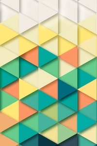 1080x2280 Triangle Pattern 8k
