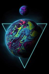 1280x2120 Triangle Planet 4k