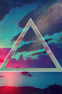 Triangle Sky Geometry Abstract 4k
