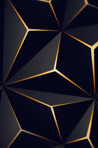 1080x2280 Triangle Solid Black Gold 4k