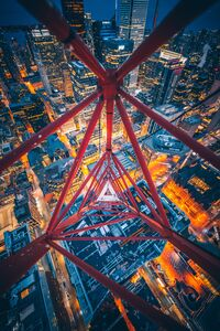 Triangle View From Crane Top 4k